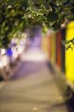 Bokeh agradável e colorido, rua na noite Imagens de Stock Royalty Free