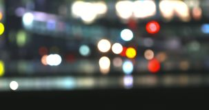 Bokeh airport gate. Bokeh lights circle of airport gate with passengers. Aviation background stock video