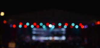 Bokeh alle luci notturne fotografia stock libera da diritti