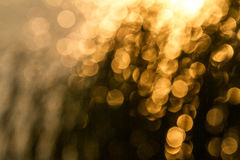 Bokeh amarelo Fotos de Stock Royalty Free