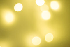 Bokeh amarelo Imagens de Stock Royalty Free