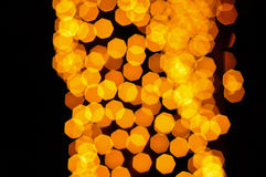 Bokeh amarillo Imagen de archivo