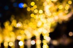 Bokeh amarillo Fotos de archivo libres de regalías