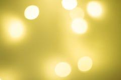Bokeh amarillo Imágenes de archivo libres de regalías