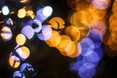 Bokeh anaranjado 9 fotografía de archivo