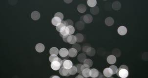 Bokeh astratto dei cerchi bianchi della riflessione di abbagliamento di Sun in acqua stock footage
