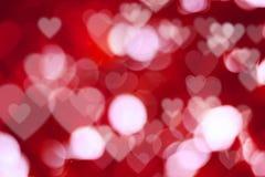 Bokeh astratto del cuore Fotografie Stock