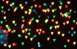 Bokeh astratto del cuore Fotografia Stock