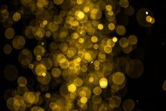 Bokeh astratto dell'oro Fotografia Stock Libera da Diritti