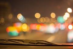 Bokeh astratto della strada in automobile per fondo Fotografie Stock Libere da Diritti