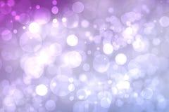 Bokeh astratto luminoso porpora Fondo d'ardore di pendenza rosa e di porpora con i cerchi vaghi luminosi e le stelle brillanti fotografia stock libera da diritti