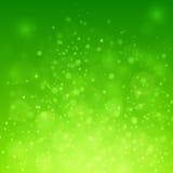 Bokeh auf grünem Hintergrund Stockfoto