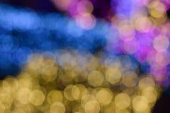 Bokeh av colorfullljusväggen Royaltyfri Fotografi