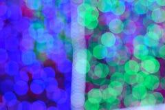 Bokeh av colorfullljusväggen Arkivbild