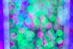 Bokeh av colorfullljusväggen Arkivbilder