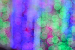 Bokeh av colorfullljusväggen Royaltyfri Bild