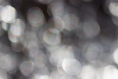 Bokeh av ljus på svart bakgrund royaltyfri bild