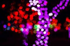 Bokeh av säsongsbetonade ljus Arkivfoton