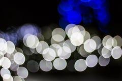 Bokeh av säsongsbetonade ljus Arkivbild