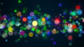 Bokeh avec des couleurs multi, fond de bokeh de lumières, contexte du rendu 3d Image libre de droits