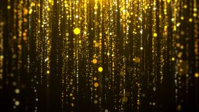 Bokeh awards background. Gold bokeh falling awards background royalty free illustration