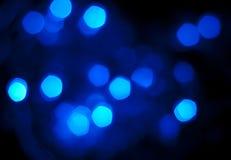 Bokeh azul Foto de Stock Royalty Free