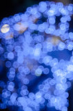 Bokeh azul Fotografía de archivo