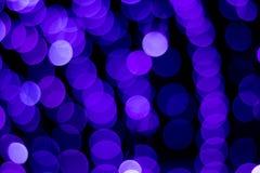 Bokeh azul Fotos de Stock Royalty Free