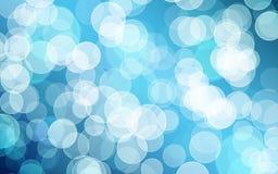 Bokeh azul Imagens de Stock Royalty Free