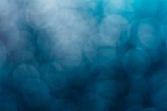 Bokeh azul borroso extracto imágenes de archivo libres de regalías