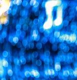Bokeh azul con la nota de la música Fotografía de archivo libre de regalías