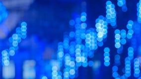 Bokeh azul defocused abstrato da iluminação imagem de stock
