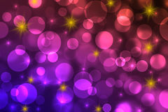 Bokeh background. Bokeh with stars as background Stock Image