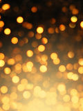 Abstract golden bokeh effect Royalty Free Stock Photography