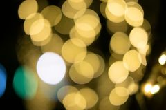 Bokeh Background ,Abstract blur of gold stock photo
