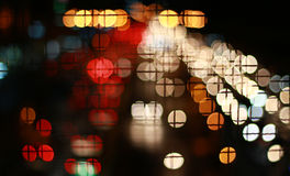 Abstract circular bokeh background of car Royalty Free Stock Image