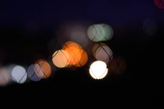 Bokeh background. Abstract bokeh background in the night Stock Photography