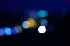 Bokeh background. Abstract bokeh background in the night Royalty Free Stock Image