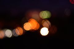 Bokeh background. Abstract bokeh background in the night Royalty Free Stock Photo