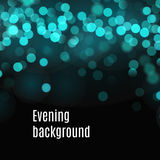Bokeh background of blue and green blurred lights Stock Images