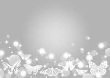 Bokeh background. With butterfly,bright Royalty Free Stock Image