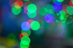 Bokeh background Christmas tree Stock Image