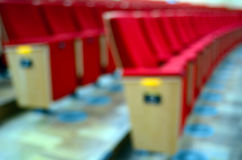 Bokeh background of cinema chairs Royalty Free Stock Images