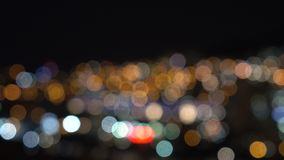 Bokeh background. With city lights stock video