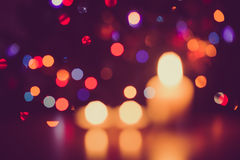 Bokeh background, with defocused lights. Royalty Free Stock Photo