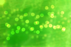 Bokeh background. Green bokeh background small light abstract royalty free stock photography