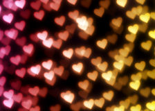 Bokeh background with hearts Royalty Free Stock Photos