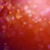 Bokeh background with hearts. EPS 10 Stock Image
