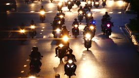 Bokeh background. HO CHI MINH, VIETNAM - JULY 11 2017: Traffic noise. Beautiful background of bokeh lights at night on road with car and moto. Ho Chi Minh is the stock video