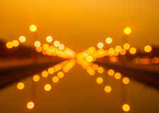 Bokeh background from light at Thanon Utthayan road Stock Photos